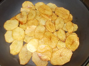 cartofi prajiti pentru musaca