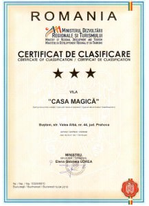 Certificat Cazare