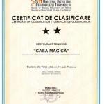 Certificat Restaurant